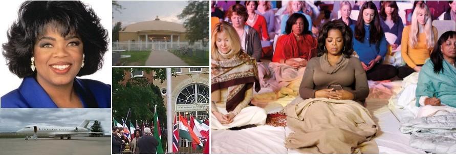 Oprah Winfrey visits Fairfield Golden Dome and Maharishi